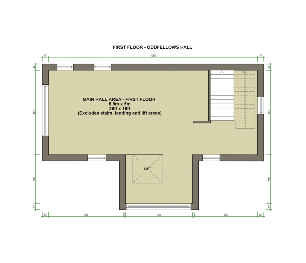 Oddfellows Hall Sheringham First Floor Plan