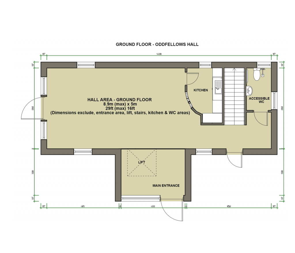 Oddfellows Hall Ground Floor Plan